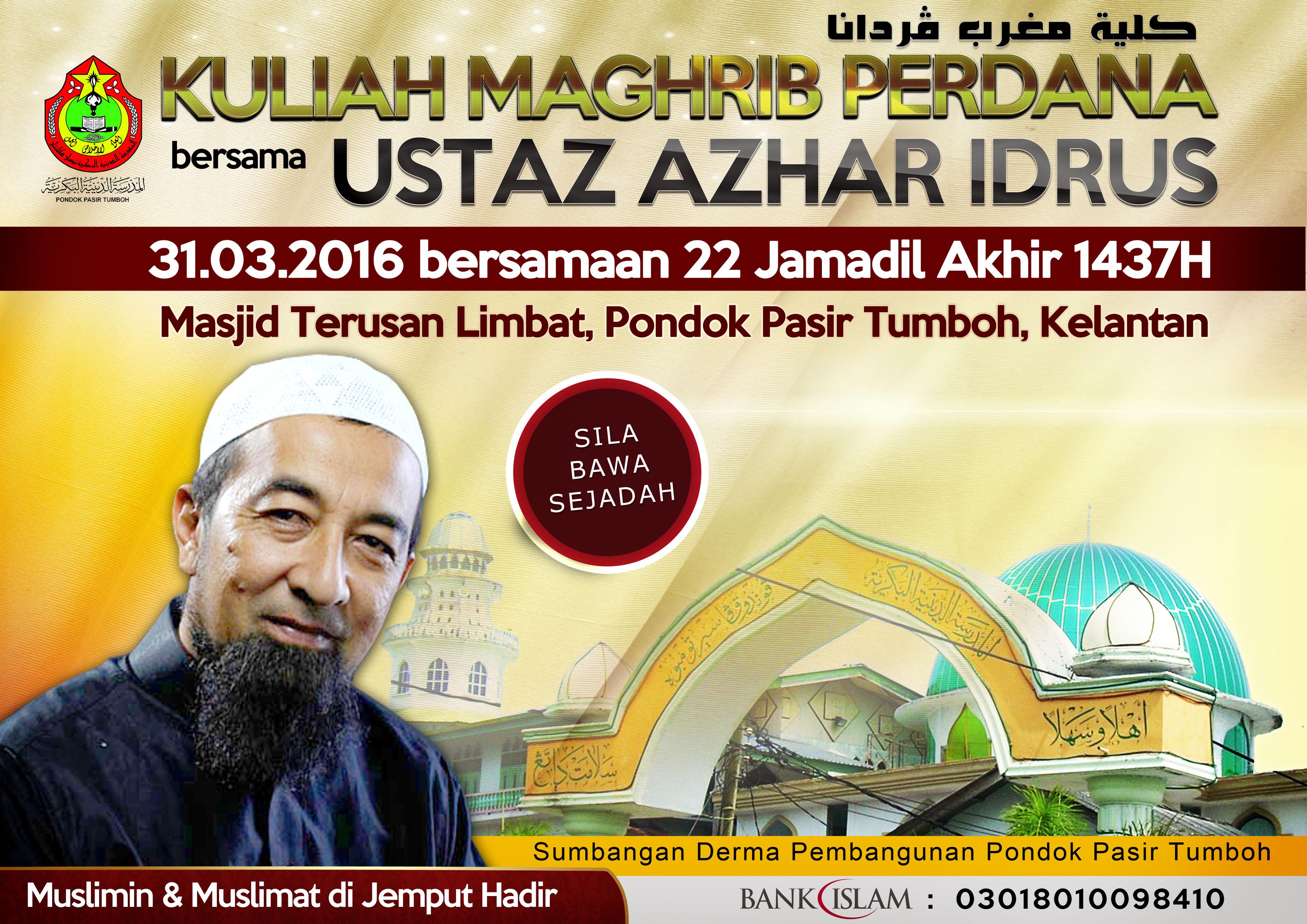 Part 1 Ustaz Ahmad Fadhli Shaari | Kuliah Jumaat 28 Mac 2014